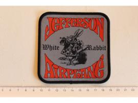 JEFFERSON AIRPLANE - WHITE RABBIT ( BLACK BORDER ) WOVEN