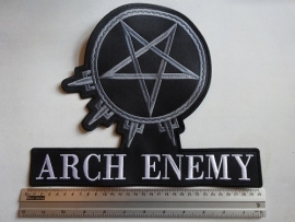 ARCH ENEMY - WHITE LOGO + SYMBOL