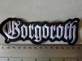 GORGOROTH - WHITE LOGO ( SHAPED )
