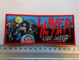 SLAYER - LIVE UNDEAD ( RED BORDER ) WOVEN