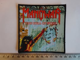 MANOWAR - THE HELL OF STEEL ( BLACK BORDER ) WOVEN