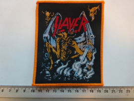 SLAYER - EVIL ( ORANGE BORDER ) WOVEN