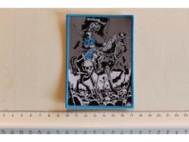 MOTORHEAD - GENERAL LEMMY ( BLUE BORDER ) WOVEN