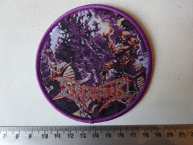 DISMEMBER - WHERE IRONCROSSES GROW ( PURPLE BORDER ) WOVEN
