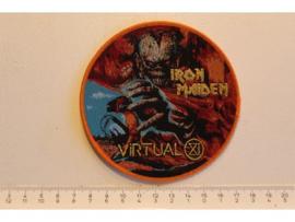 IRON MAIDEN - VIRTUAL XI ( ORANGE BORDER ) GOLD WOVEN