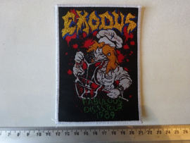 EXODUS - FABULOUS DISASTOUR 1986 ( WHITE BORDER ) WOVEN