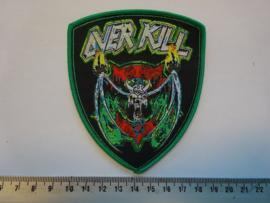 OVERKILL - NECROSHINE ( GREEN BORDER ) WOVEN