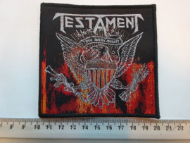 TESTAMENT - TRUE AMERICAN HATE ( BLACK BORDER ) WOVEN