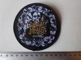 NAPALM DEATH - UTILITARIAN CIRCLED BLACK (WOVEN) NUMBERD