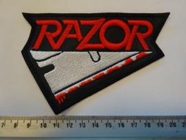 RAZOR - RED NAME LOGO + BLOODY RAZOR