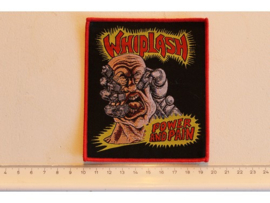 WHIPLASH - POWER AND PAIN ( RED BORDER ) WOVEN