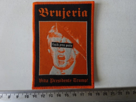 BRUJERIA - VIVA PRESIDENTE TRUMP ( ORANGE  BORDER ) WOVEN