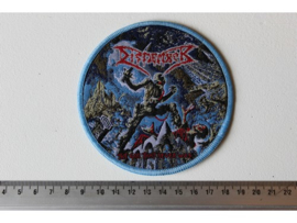 DISMEMBER - THE GOD THAT NEVER WAS ( BLUE BORDER ) WOVEN