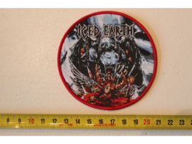 ICED EARTH - TRIBUTE TO THE GODS ( RED BORDER ) WOVEN