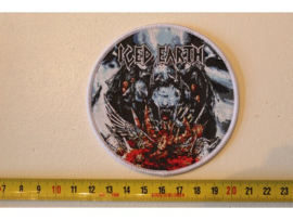 ICED EARTH - TRIBUTE TO THE GODS (  WHITE BORDER ) WOVEN