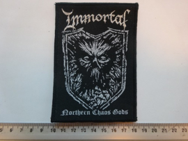 IMMORTAL - NORTHERN CHAOS GODS ( BLACK BORDER ) WOVEN