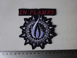 IN FLAMES - RED LOGO + SYMBOLS