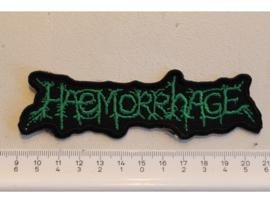 HAEMORRHAGE - GREEN NAME LOGO