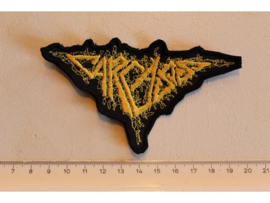 CARCASS - YELLOW NAME LOGO ( SHAPED )
