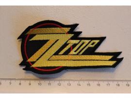 ZZ TOP - YELLOW NAME LOGO ( SHAPED )