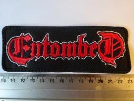 ENTOMBED - RED/WHITE LOGO
