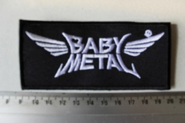 BABY METAL - WHITE NAME LOGO ( NON SHAPED )