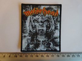 MOTORHEAD - GOD WAS NEVER ON YOUR SIDE ( BLACK BORDER ) WOVEN