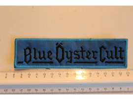 BLUE OYSTER CULT - BLACK/BLUE NAME LOGO ( STRIPE )