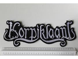 KORPIKLAANI - WHITE NAME LOGO ( 35 CM )