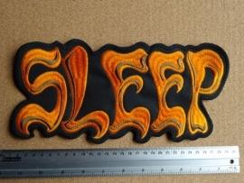 SLEEP - ORANGE/GREY LOGO