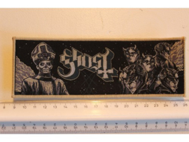 GHOST - PAPA + BAND ( BEIGE BORDER ) WOVEN