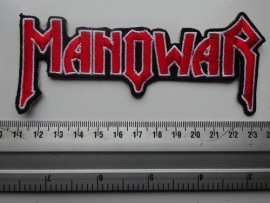 MANOWAR - SHAPED RED LOGO
