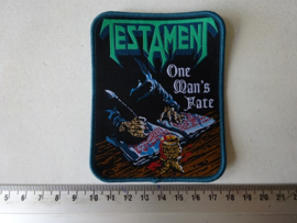 TESTAMENT - ONE MAN'S FATE ( WOVEN )