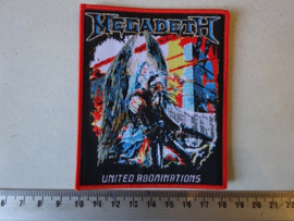 MEGADETH - UNITED ABOMINATIONS ( ORANGE BORDER ) HANDNUMBERED