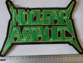 NUCLEAR ASSAULT - GREEN/YELLOW LOGO (2)