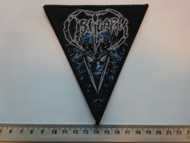 OBITUARY - POSSESSION ( BLACK BORDER ) WOVEN