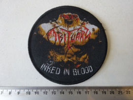 OBITUARY - INKED IN BLOOD ( WOVEN, BLACK BORDER )