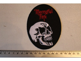 MERCYFUL FATE - SKULL LOGO + RED NAME