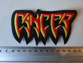 CANCER - RED/YELLOW LOGO ( SHAPED )