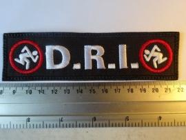 D.R.I. - WHITE LOGO