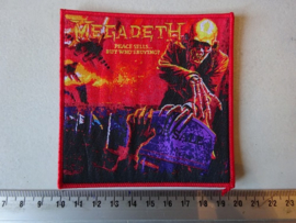 MEGADETH - PEACE SELLS.. BUT.. ( RED BORDER ) WOVEN