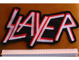 SLAYER - WHITE/RED NAME LOGO