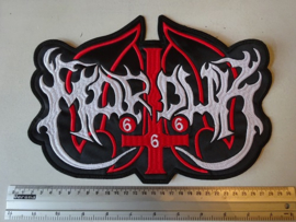 MARDUK - WHITE/RED NAME LOGO