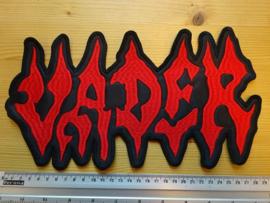VADER - RED NAME LOGO