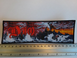 DIO - HOLY DIVER ( BLACK BORDER ) WOVEN STRIPE