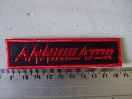 ANNIHILATOR - RED LOGO ( RED BORDER )