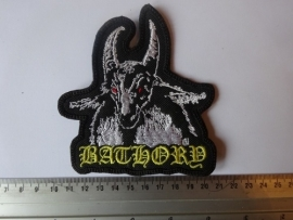 BATHORY - YELLOW NAME, WHITE GOAT, RED EYES
