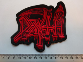 DEATH - OLD BLOODY LOGO ( RED )