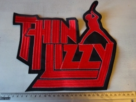 THIN LIZZY - RED LOGO + PHIL