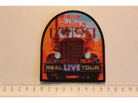 IRON MAIDEN - REAL LIVE TOUR ( BLACK BORDER )  WOVEN